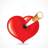 çiğ bir yürekle — Stok Vektör