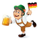 Alman adam — Stok Vektör