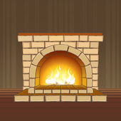 Fireplace — Vector de stock
