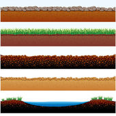 Ground Surfaces — Stock Vector