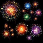 Fireworks seti — Stok Vektör