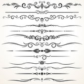 Ornamental Rule Lines in Different Design — Stock vektor