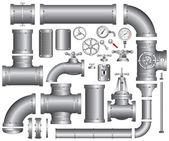 Zestaw rurociągów — Wektor stockowy