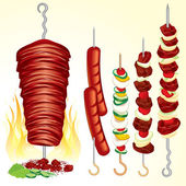 Kebabs — Stock Vector