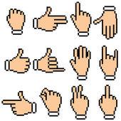 Hand Pictogram — Stock Vector