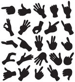 Hand Set — Stock Vector
