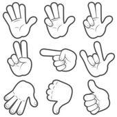 Mãos dos desenhos animados — Vetor de Stock