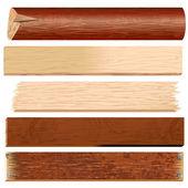 日志和木板 — 图库矢量图片