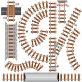 Demiryolu elemanları — Stok Vektör
