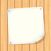Carta segno sul muro — Vettoriale Stock