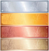 Metallic Panels — Stock Vector