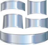 Metallic plates — Stock Vector