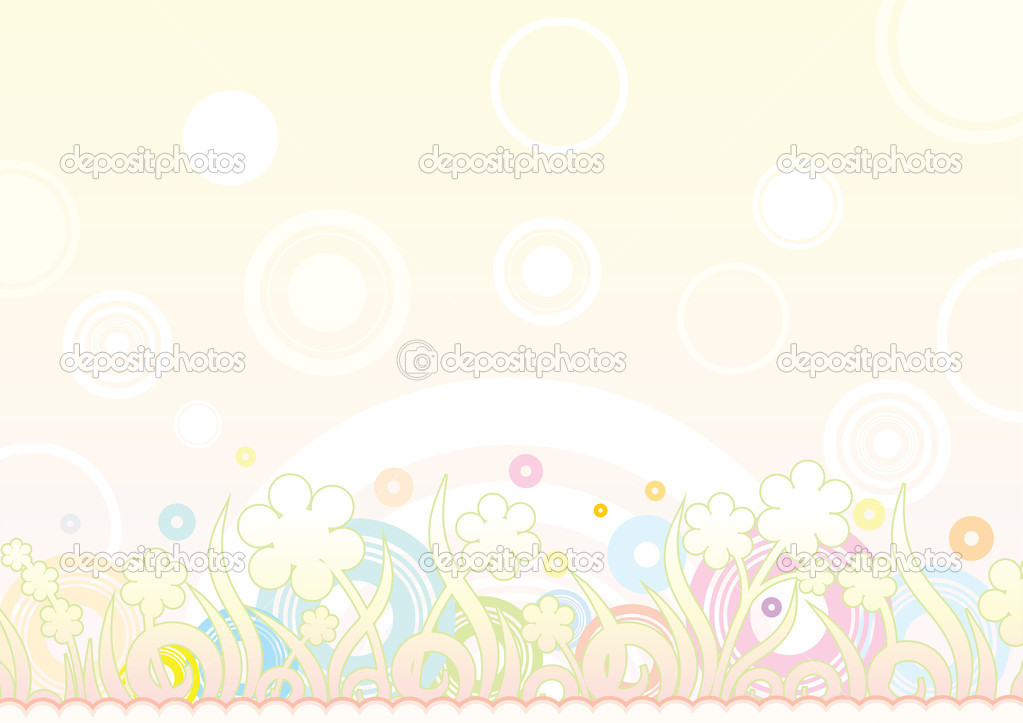 Floral retro summer background — Imagen vectorial #8437827