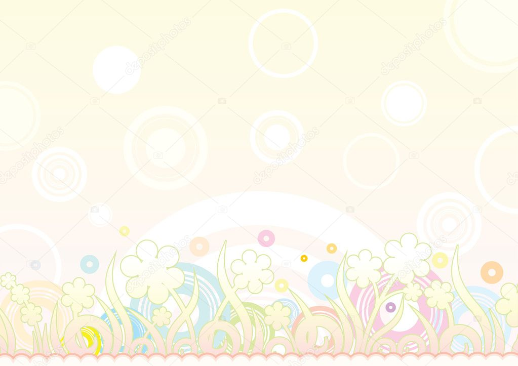 Floral retro summer background  Stock Vector #8437827