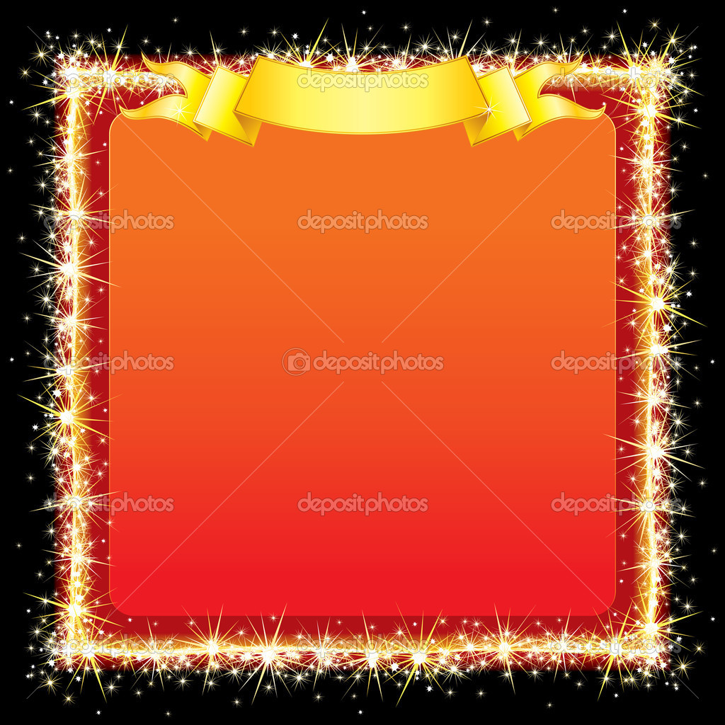 Sparkling Bright Frame for your text or festive design — Stock Vector #8438260