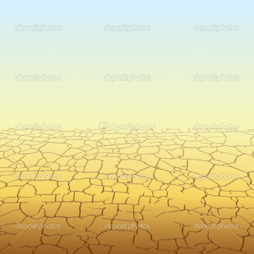 Absolute Empty Desert, vector background — Stock Vector #8438433