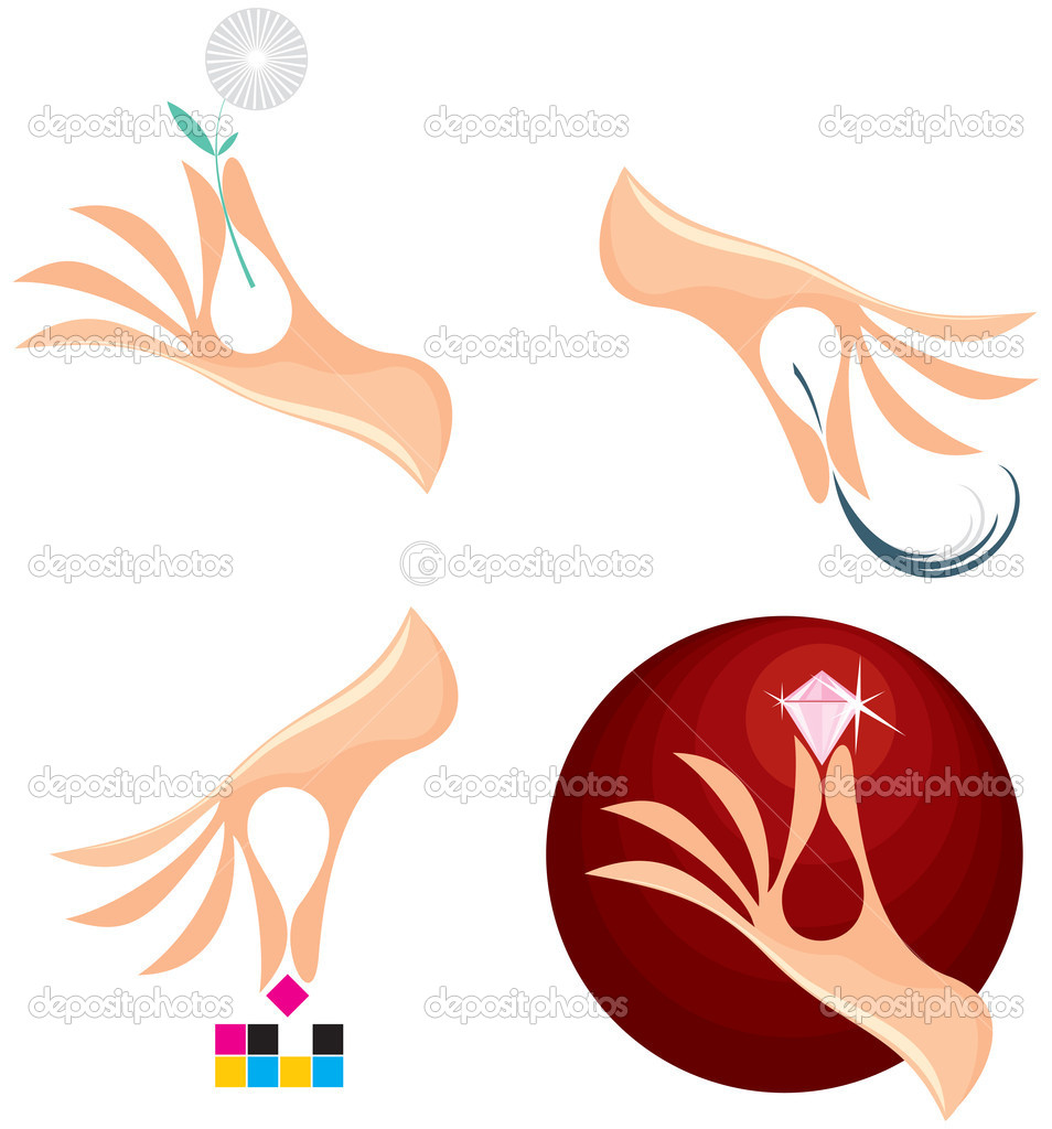 Creative Collection of Female Hand logo for for different purposes — Stock Vector #8438472