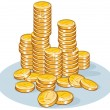 Stock Vector: Stack of Coins