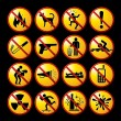Restrictive Signs - Imagen vectorial