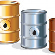 Stock Vector: Oil Barrels