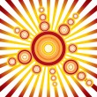 Retro Sun - Stock Vector