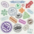 Stock Vector: Shopping Stamps