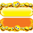 Smileys Banners — Stock Vector #8440318