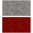 Old Brick Wall - Stock Vector