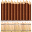 Wooden Fences - Stock Vector