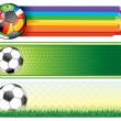 Soccer banners — Stock Vector