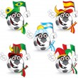 Soccer Smileys — Stock Vector