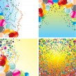 Birthday Backgrounds - Imagen vectorial