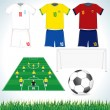 Soccer set - Stock Vector