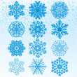 Set Snowflakes - Stock Vector