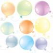 Glossy Balloons - Stock Vector
