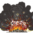 Volcano eruption - Stock Vector