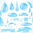 Water design drops — Vector de stock #8440658