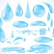 Royalty-Free Stock Vector Image: Water design drops