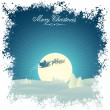 Retro Xmas card - Imagen vectorial