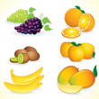 Ripe Fruits — Stock Vector