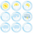 Weather Set — Stock Vector