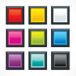 Stock Vector: Square empty buttons