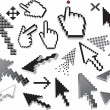 Royalty-Free Stock Vector Image: Pixelated icons