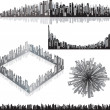 panoramas urbanos — Vector de stock
