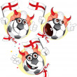 Royalty-Free Stock Vector Image: England cartoon ball