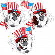 American cartoon ball — 图库矢量图片