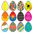 Stock Vector: Stylized Easter Eggs