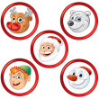 Royalty-Free Stock Vector: Christmas Characters