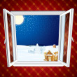 Christmas winter scene - Stock Vector