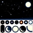 Customizable Night Sky - Imagen vectorial